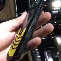 vertu总裁亮黑黄色键盘鳄鱼皮